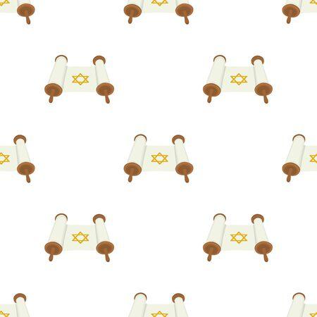 Illustration on theme big colored pattern Hanukkah, seamless set torah. Seamless pattern consisting of collection antique torah, accessory holiday Hanukkah. Seamless Hanukkah, pattern in old torah.