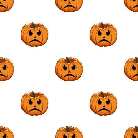 Illustration on theme big colored pattern Halloween, seamless orange pumpkin. Seamless pattern consisting of collection pumpkin, accessory at Halloween. Rare pattern Halloween from seamless pumpkin. Çizim