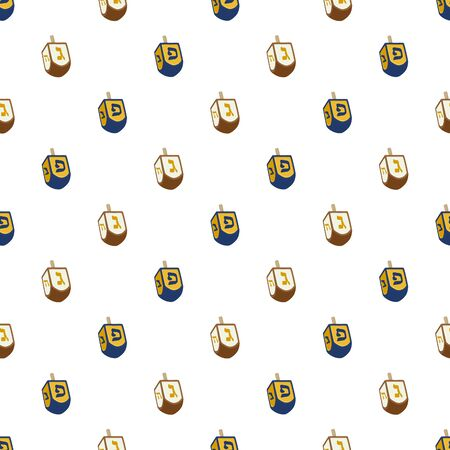 Illustration on theme big colored pattern Hanukkah, seamless set dreidel. Seamless pattern consisting of collection dreidel, accessory holiday Hanukkah. Seamless Hanukkah, pattern in old dreidel. Stok Fotoğraf - 133810042