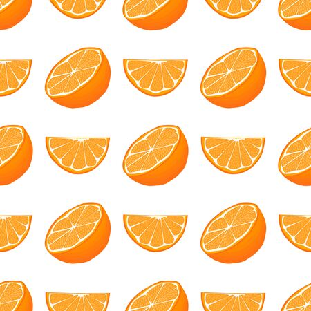 Illustration on theme big colored seamless orange, bright fruit pattern for seal. Fruit pattern consisting of beautiful seamless repeat orange. Simple colorful pattern fruit from seamless orange.