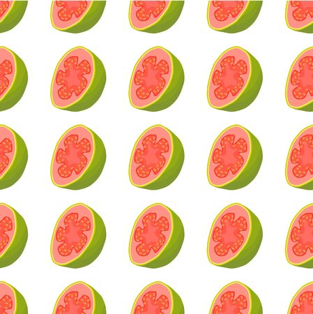 Illustration on theme big colored seamless guava, bright fruit pattern for seal. Fruit pattern consisting of beautiful seamless repeat guava. Simple colorful pattern fruit from seamless soft guava.