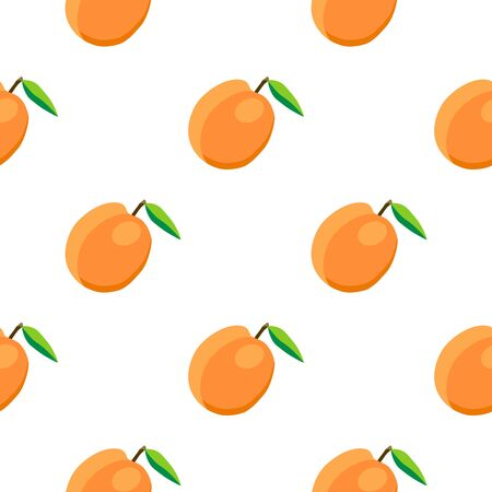 Illustration on theme big colored seamless apricot, bright fruit pattern for seal. Fruit pattern consisting of beautiful seamless repeat apricot. Simple colorful pattern fruit from seamless apricot.
