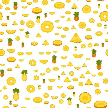 Illustration on theme big colored seamless pineapple, bright fruit pattern for seal. Fruit pattern consisting of beautiful seamless repeat pineapple. Simple colorful pattern fruit seamless pineapple.