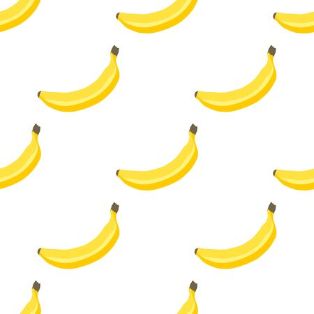 Illustration on theme big colored seamless banana, bright fruit pattern for seal. Fruit pattern consisting of beautiful seamless repeat banana. Simple colorful pattern fruit from seamless banana. Иллюстрация