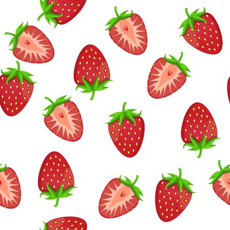 Theme big colored seamless strawberry, bright berry pattern for seal. Berry pattern consisting of beautiful seamless repeat strawberry. Simple colorful pattern berry from seamless soft strawberry.