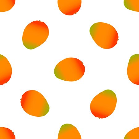 Illustration on theme big colored seamless mango, bright fruit pattern for seal. Fruit pattern consisting of beautiful seamless repeat mango. Simple colorful pattern fruit from seamless soft mango.