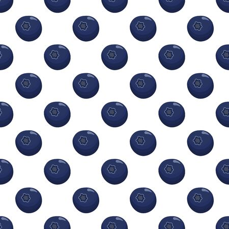 Theme big colored seamless blueberry, bright berry pattern for seal. Berry pattern consisting of beautiful seamless repeat blueberry. Simple colorful pattern berry from seamless soft round blueberry. Stock Illustratie