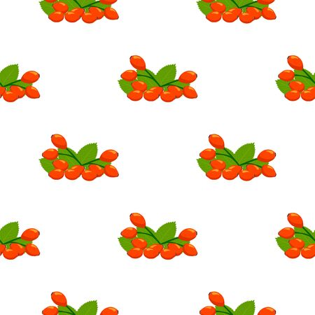 Illustration on theme big colored seamless rose hip, bright berry pattern for seal. Berry pattern consisting of beautiful seamless repeat rose hip. Simple colorful pattern berry from seamless rose hip