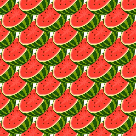 Theme big colored seamless watermelon, bright berry pattern for seal. Berry pattern consisting of beautiful seamless repeat watermelon. Simple colorful pattern berry from seamless soft watermelon.