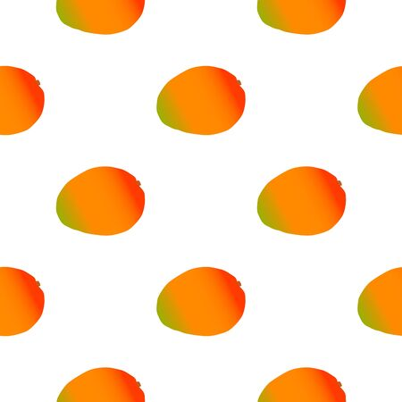 Illustration on theme big colored seamless mango, bright fruit pattern for seal. Fruit pattern consisting of beautiful seamless repeat mango. Simple colorful pattern fruit from seamless soft mango. Stock Illustratie