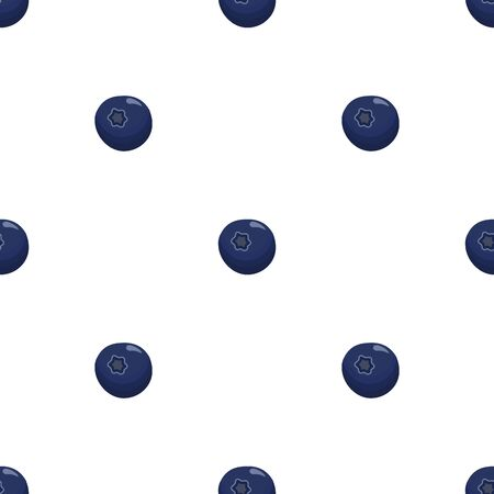 Theme big colored seamless blueberry, bright berry pattern for seal. Berry pattern consisting of beautiful seamless repeat blueberry. Simple colorful pattern berry from seamless soft round blueberry. Иллюстрация