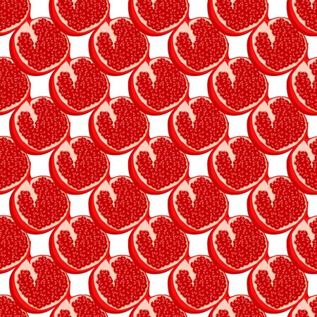 Theme big colored seamless pomegranate, bright berry pattern for seal. Berry pattern consisting of beautiful seamless repeat pomegranate. Simple colorful pattern berry from seamless soft pomegranate.