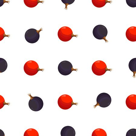 Illustration on theme big colored seamless currant, bright berry pattern for seal. Berry pattern consisting of beautiful seamless repeat currant. Simple colorful pattern berry from seamless currant.