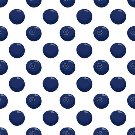 Theme big colored seamless blueberry, bright berry pattern for seal. Berry pattern consisting of beautiful seamless repeat blueberry. Simple colorful pattern berry from seamless soft round blueberry. Ilustração