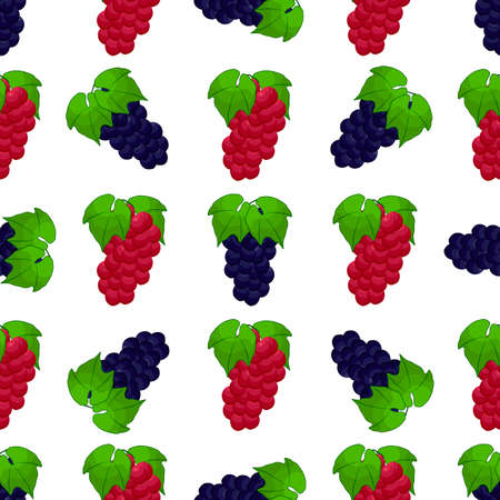 Illustration on theme big colored seamless grape, bright berry pattern for seal. Berry pattern consisting of beautiful seamless repeat grape. Simple colorful pattern berry from seamless soft grape.