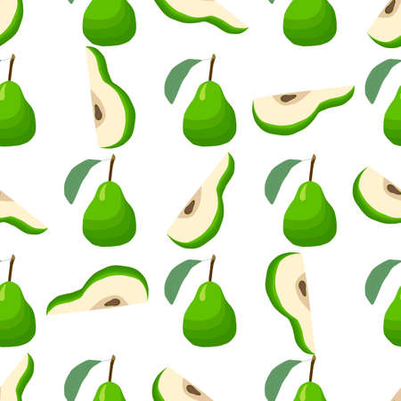 Illustration on theme big colored seamless pear, bright fruit pattern for seal. Fruit pattern consisting of beautiful seamless repeat pear. Simple colorful pattern fruit from seamless pear.