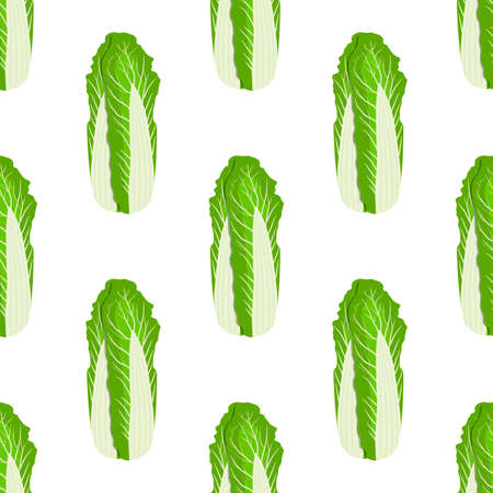Illustration pattern chinese cabbage, vegetable salad for seal. Vegetable pattern consisting of beautiful chinese cabbage, many salad. Simple colorful vegetable pattern from salad chinese cabbage.