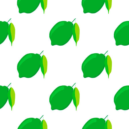 Illustration on theme big colored seamless green lime, bright fruit pattern for seal. Fruit pattern consisting of beautiful seamless repeat lime. Simple colorful pattern fruit from seamless green lime