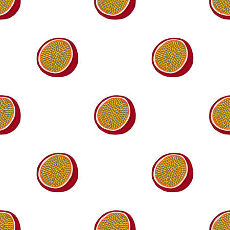 Illustration on theme big colored seamless passion fruit, bright pattern for seal. Passion fruit pattern consisting of beautiful seamless repeat. Simple colorful pattern passion fruit from seamless.