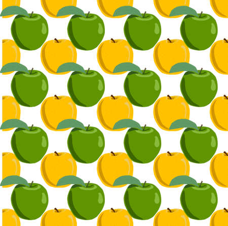 Illustration on theme big colored seamless apple, bright fruit pattern for seal. Fruit pattern consisting of beautiful seamless repeat apple. Simple colorful pattern fruit from seamless beauty apple. Иллюстрация