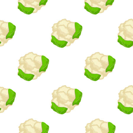 Illustration on theme of bright pattern cabbage, vegetable cauliflower for seal. Vegetable pattern consisting of beautiful cabbage, many cauliflower. Simple vegetable pattern from cauliflower cabbage.