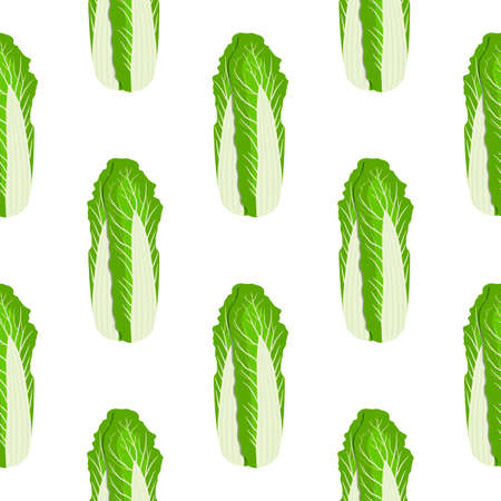 Illustration pattern chinese cabbage, vegetable salad for seal. Vegetable pattern consisting of beautiful chinese cabbage, many salad. Simple colorful vegetable pattern from salad chinese cabbage. Иллюстрация