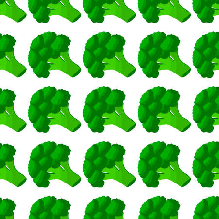 Illustration on theme of bright pattern grass broccoli, vegetable plant for seal. Vegetable pattern consisting of beautiful broccoli, many plant. Simple colorful vegetable pattern from plant broccoli.