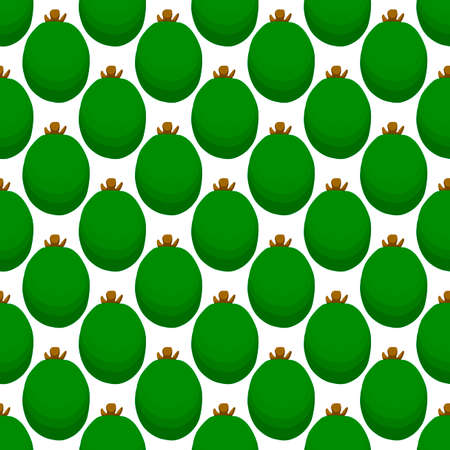 Illustration on theme big colored seamless feijoa, bright fruit pattern for seal. Fruit pattern consisting of beautiful seamless repeat feijoa. Simple colorful pattern fruit from seamless feijoa.