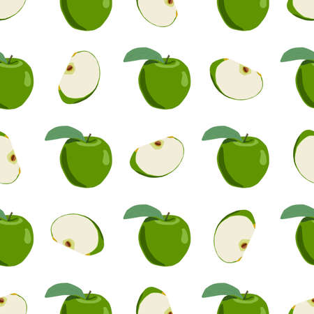 Illustration on theme big colored seamless apple, bright fruit pattern for seal. Fruit pattern consisting of beautiful seamless repeat apple. Simple colorful pattern fruit from seamless beauty apple.