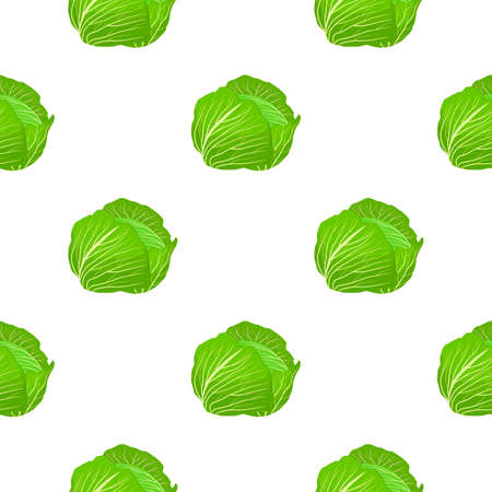 Illustration on theme of bright pattern cabbage, vegetable lettuce for seal. Vegetable pattern consisting of beautiful cabbage, many lettuce. Simple colorful vegetable pattern from lettuce cabbage.