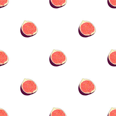 Illustration on theme big colored seamless purple fig, bright fruit pattern for seal. Fruit pattern consisting of beautiful seamless repeat fig. Simple colorful pattern fruit from seamless purple fig.
