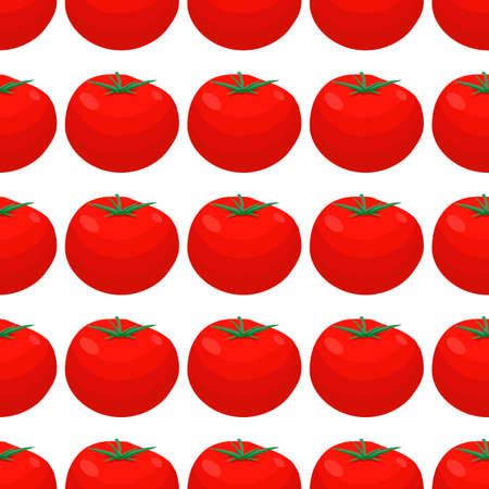 Illustration on theme of pattern red tomato, vegetable ketchup for seal. Vegetable pattern consisting of beautiful red tomato, many ketchup. Simple colorful vegetable pattern from red ketchup tomato.