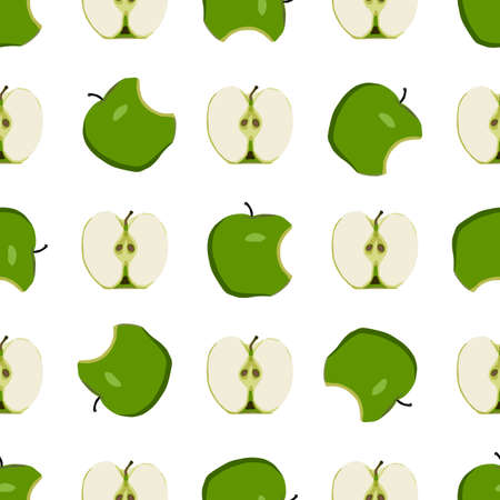 Illustration on theme big colored seamless apple, bright fruit pattern for seal. Fruit pattern consisting of beautiful seamless repeat apple. Simple colorful pattern fruit from seamless beauty apple. Ilustração