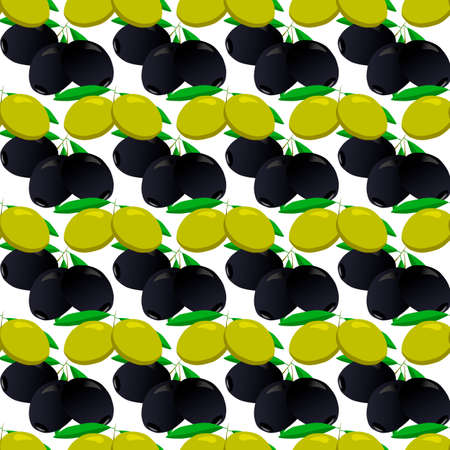 Illustration on theme of bright pattern italian olive, oil berry for seal. Berry pattern consisting of beautiful italian olive, many herb oil. Simple colorful berry pattern from italian oil olive.
