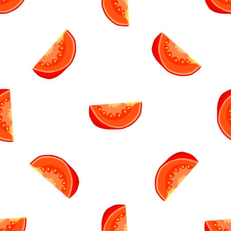 Illustration on theme of pattern red tomato, vegetable ketchup for seal. Vegetable pattern consisting of beautiful red tomato, many ketchup. Simple colorful vegetable pattern from red ketchup tomato. Stok Fotoğraf - 161762865