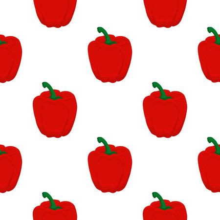 Illustration on theme of bright pattern bell pepper, vegetable capsicum for seal. Vegetable pattern of beautiful bell pepper, many capsicum. Simple colorful vegetable pattern from capsicum bell pepper Çizim