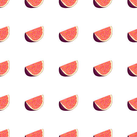 Illustration on theme big colored seamless purple fig, bright fruit pattern for seal. Fruit pattern consisting of beautiful seamless repeat fig. Simple colorful pattern fruit from seamless purple fig. Stok Fotoğraf - 161762882