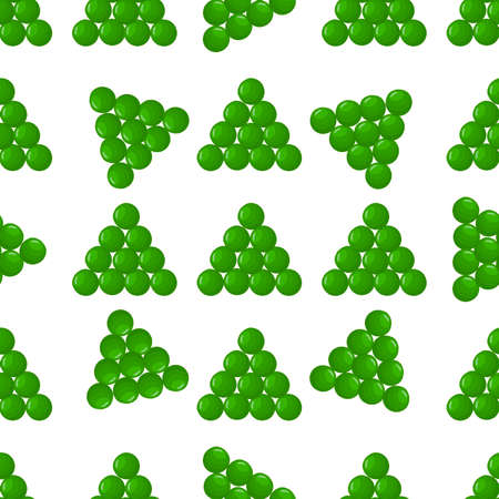 Illustration on theme of bright pattern green peas, vegetable pod for seal. Vegetable pattern consisting of beautiful green peas, many light pod. Simple colorful vegetable pattern from pod green peas.