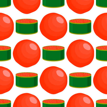 Illustration on theme big pattern identical types fish caviar, egg equal size. Egg pattern consisting of fresh fish caviar for colored print on wallpaper. Abstract egg pattern from many fish caviar.