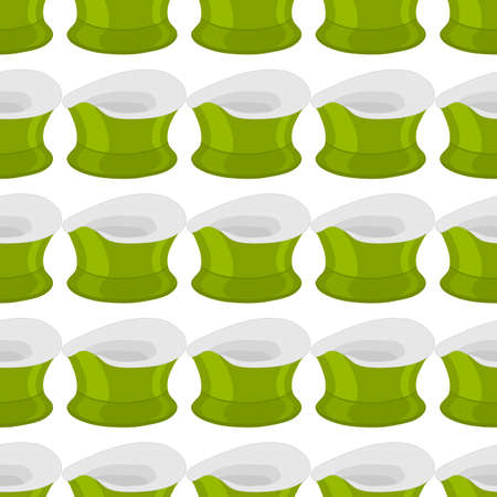 Abstract seamless plastic baby pots with comfortable handle, kid potty for wc. Pattern potty consisting of many different plastic pots in wc. Plastic pots it main accessory child, art potty to wc. Çizim