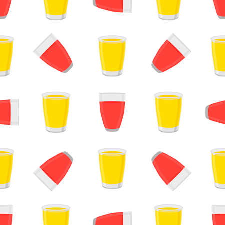Illustration on theme big colored lemonade in glass cup for natural drink. Lemonade pattern consisting of collection kitchen accessory, glass cup to organic food. Tasty fresh lemonade from glass cup. 矢量图像