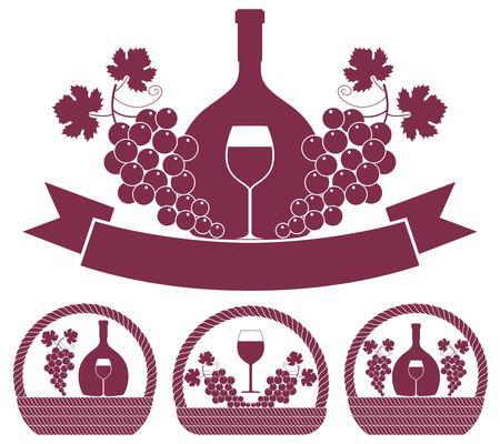 pannier: Wine Illustration