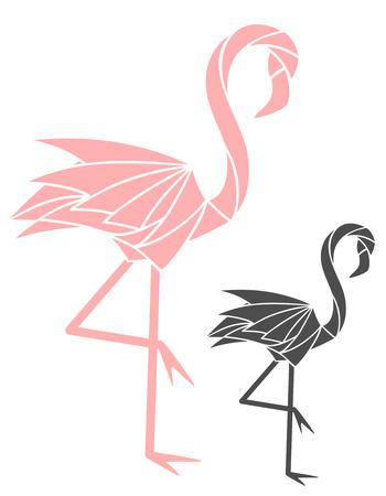 pink and black: Flamingo Illustration