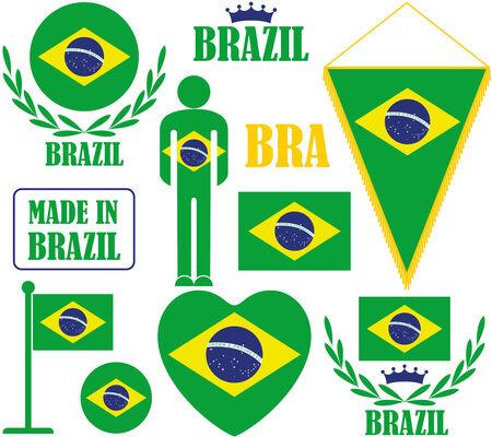 brazil flag: Brazil