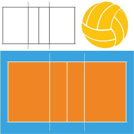 winning pitch: Volleyball Illustration