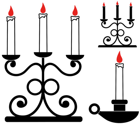 candle holder: Candlestick with holder