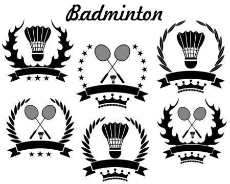 badminton sport symbol: Badminton icon  Illustration
