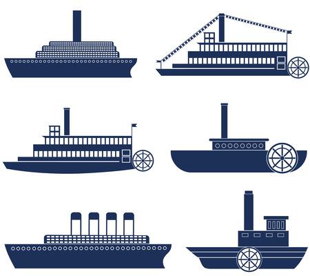 steamship: Stoomschip icoon Stock Illustratie