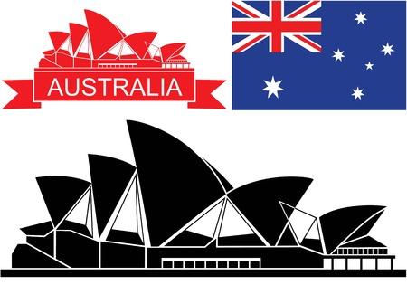 Australië Stock Illustratie