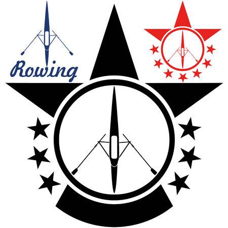 Rowing illustration